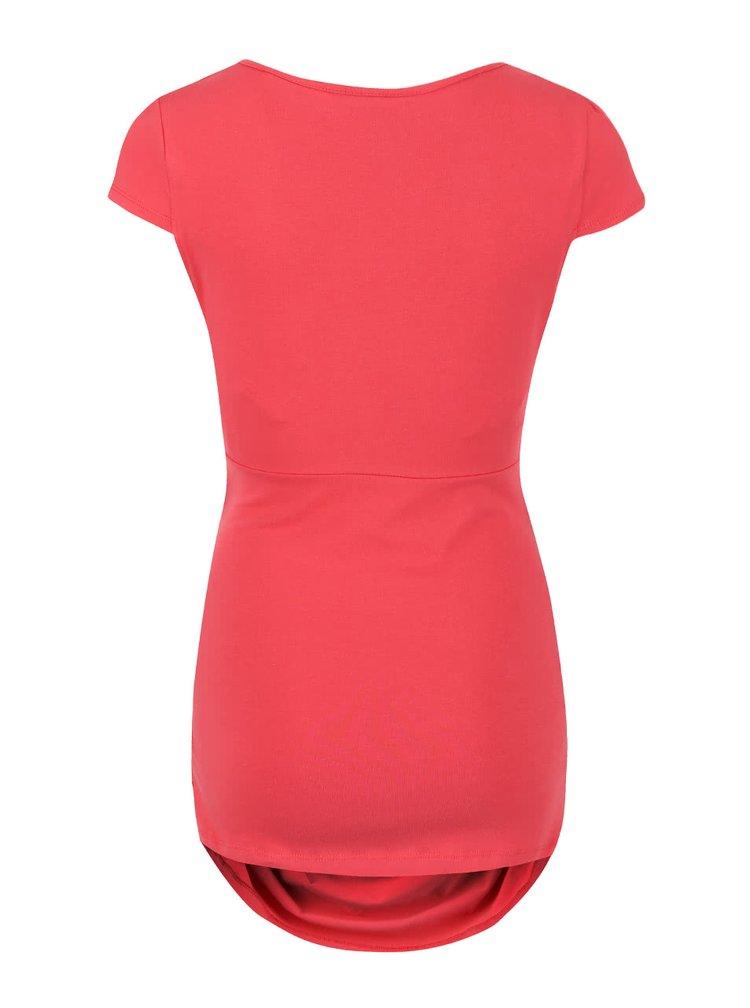 Červené těhotenské tričko Dorothy Perkins Maternity