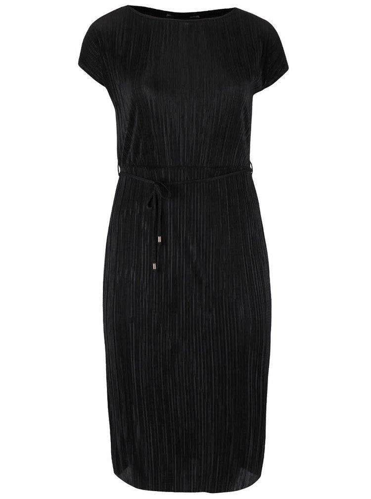 Čierne plisované šaty Dorothy Perkins Curve