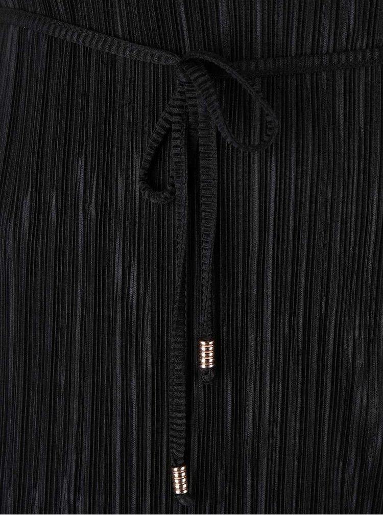 Rochie cu pliuri Dorothy Perkins Curve neagră