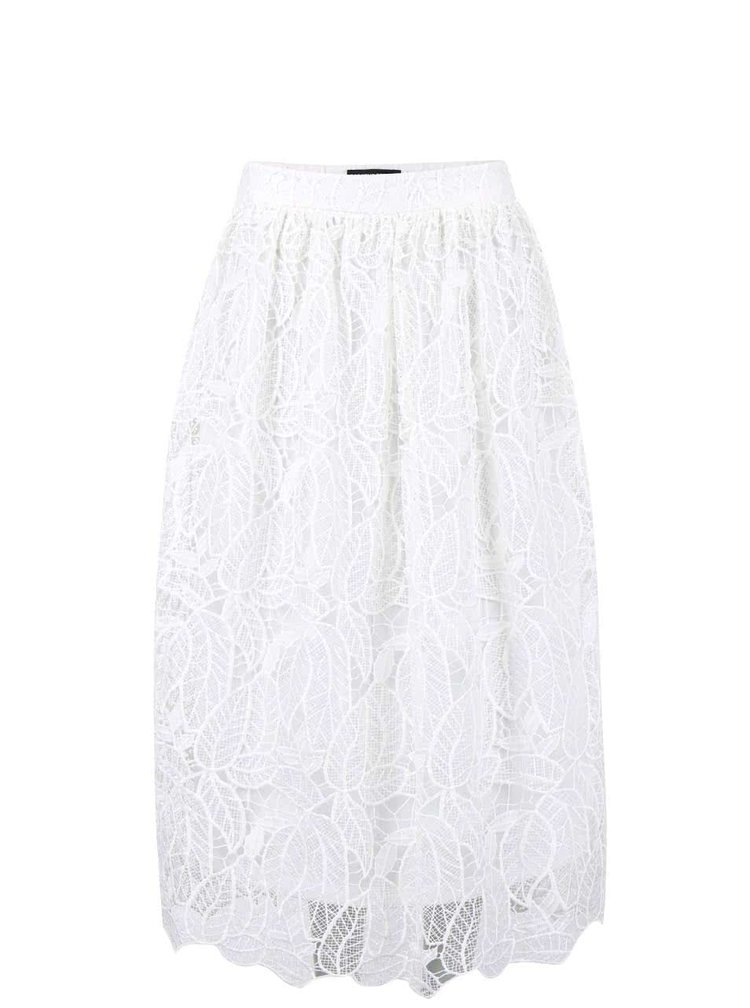 Krémová čipkovaná sukňa Dorothy Perkins