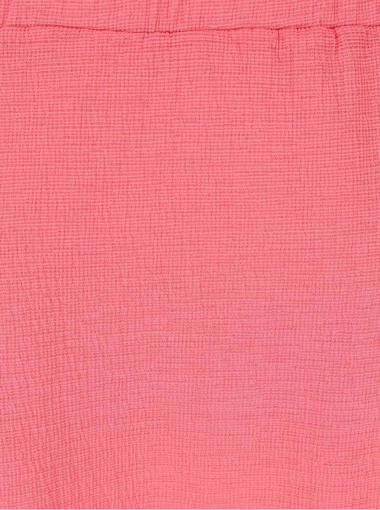 Ružový top so spadnutými ramenami Dorothy Perkins Petite