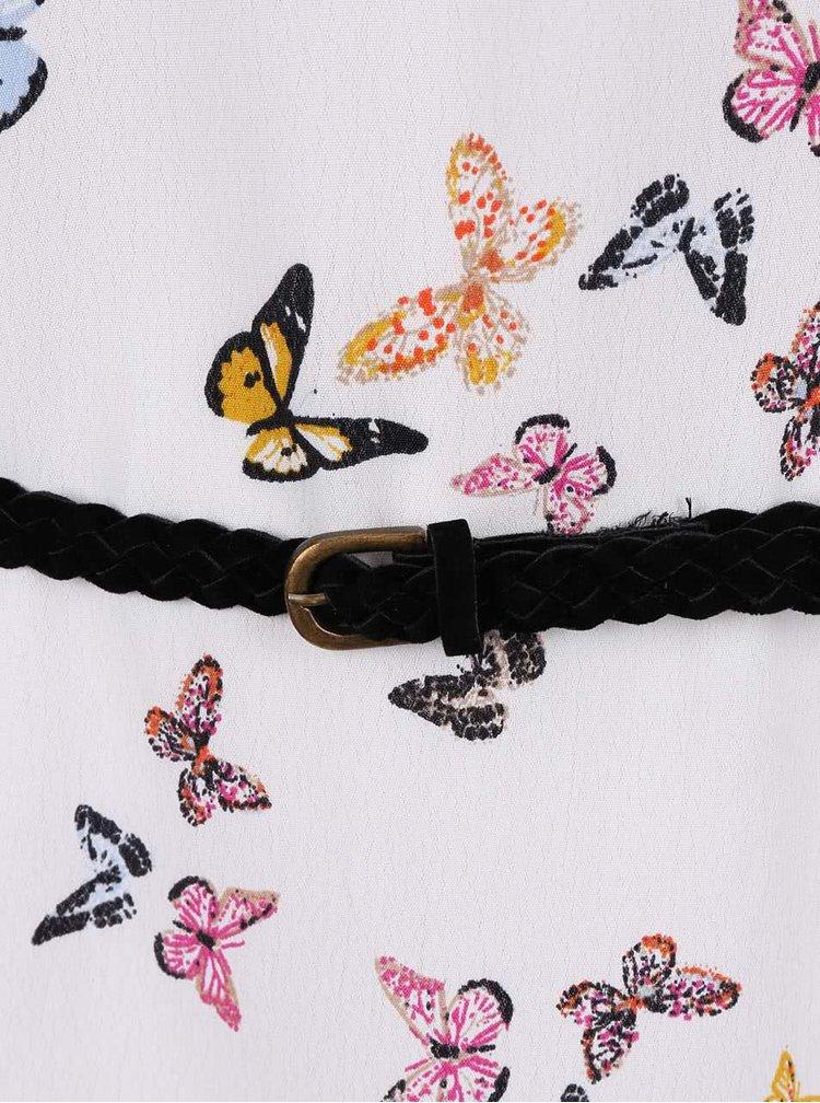 Krémová tunika s barevnými motýly ONLY Rakhi I.