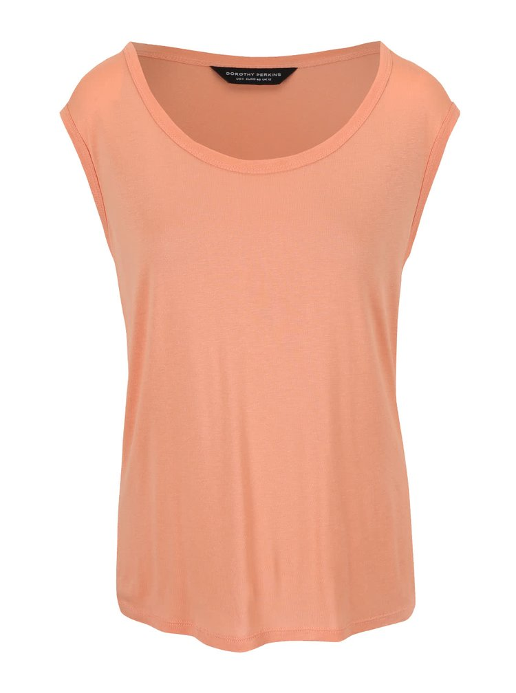 Oranžové tričko s kulatým výstřihem Dorothy Perkins
