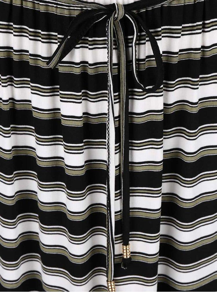 Rochie maxi Dorothy Perkins crem cu negru in dungi
