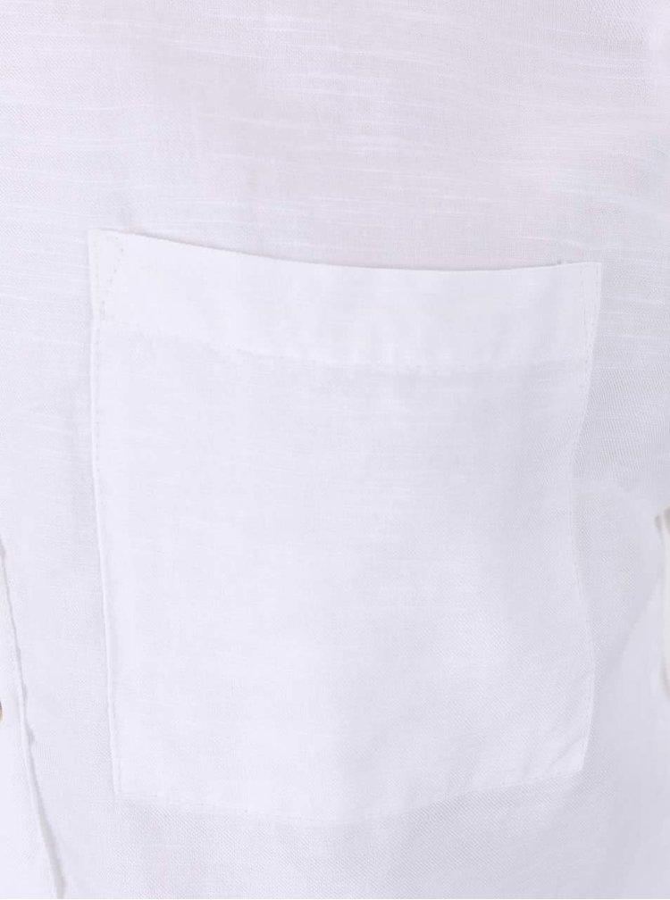 Bílá košile s 3/4 rukávy Dorothy Perkins