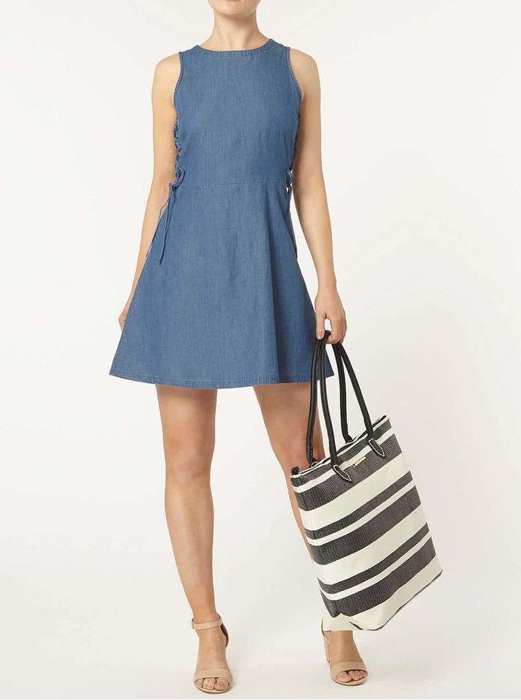 Modré džínové šaty Dorothy Perkins