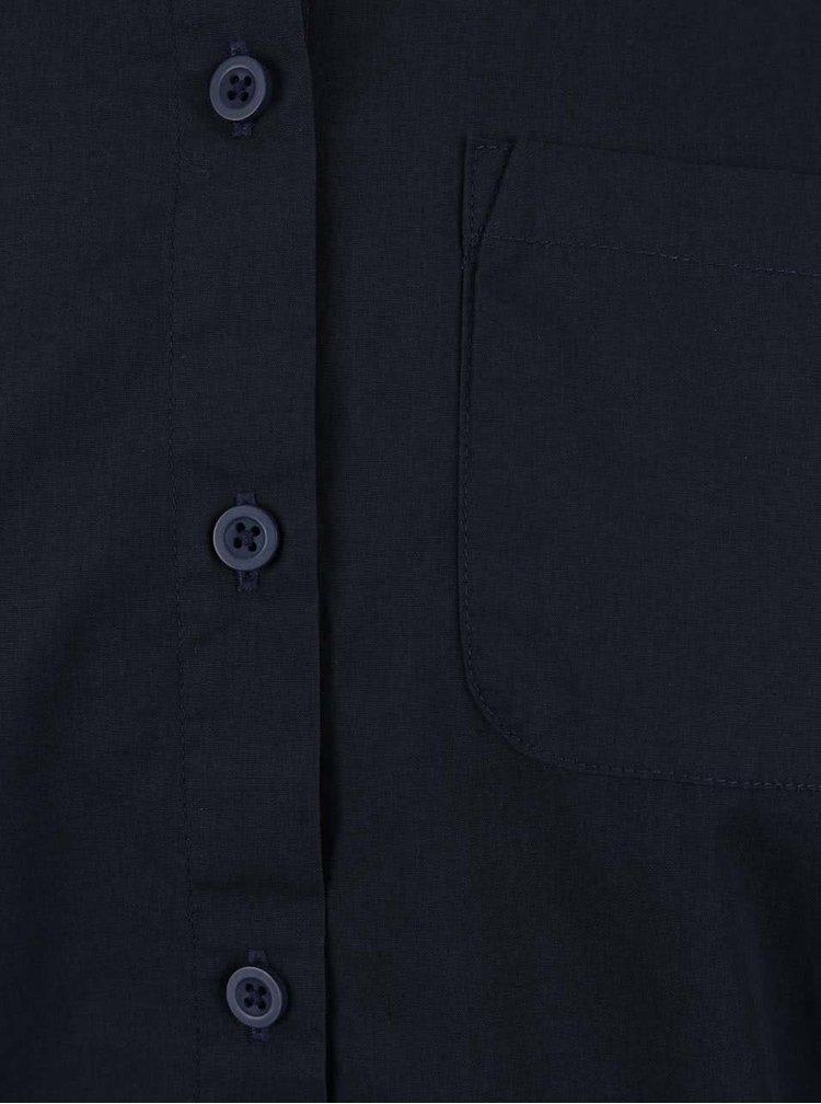 Tmavě modrá košile s krátkým rukávem Noisy May Kimma