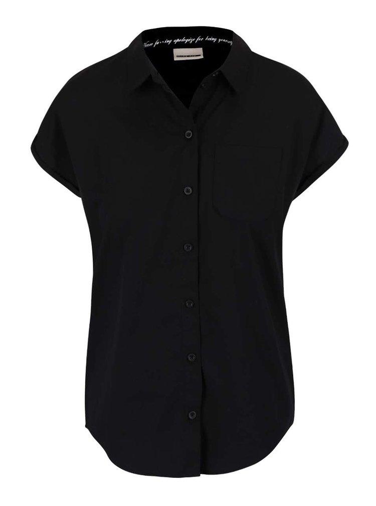 Černá košile s krátkým rukávem Noisy May Kimma