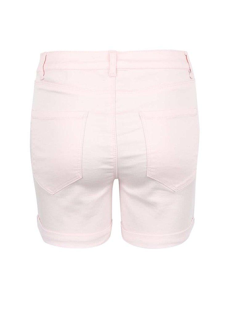 Pantaloni scurți VERO MODA Flex-It roz deschis