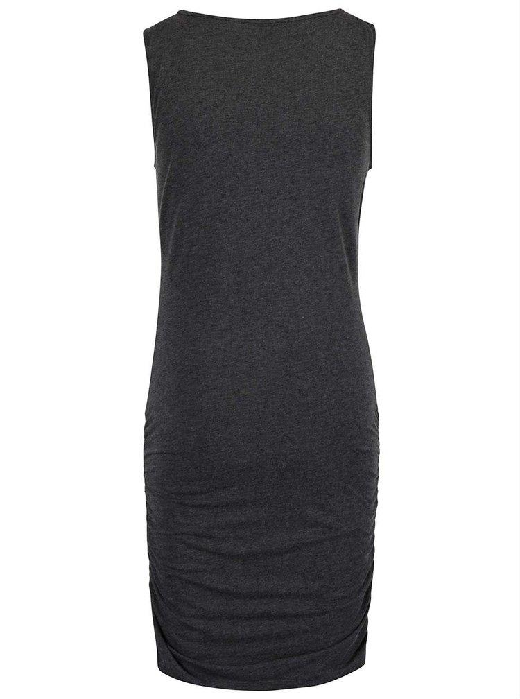 Tmavě šedé šaty s řasením Noisy May Tasty