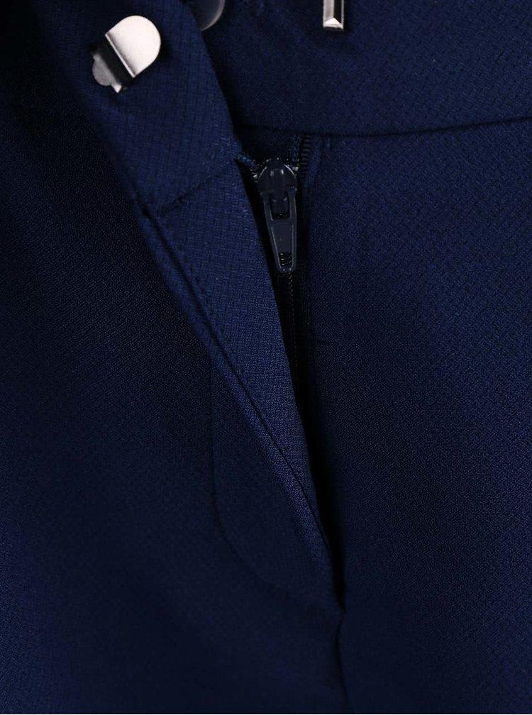 Tmavě modré kraťasy s všitým páskem VERO MODA Garry