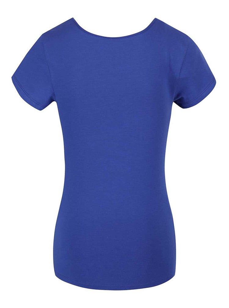 Modré tričko s krátkým rukávem VERO MODA Maxi My