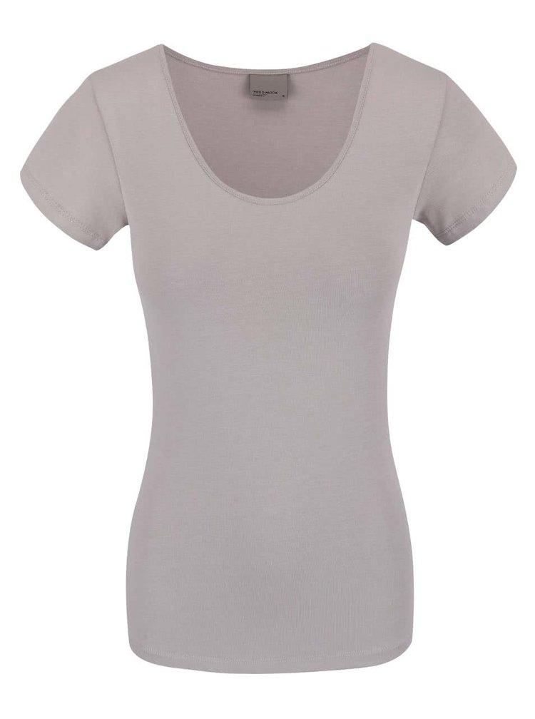 Sivé tričko s krátkym rukávom VERO MODA Maxi My