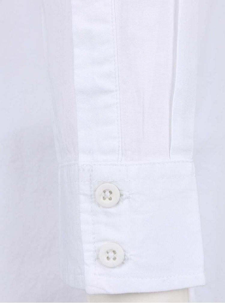 Biele košeľové šaty s predĺženým zadným dielom Noisy May Corona