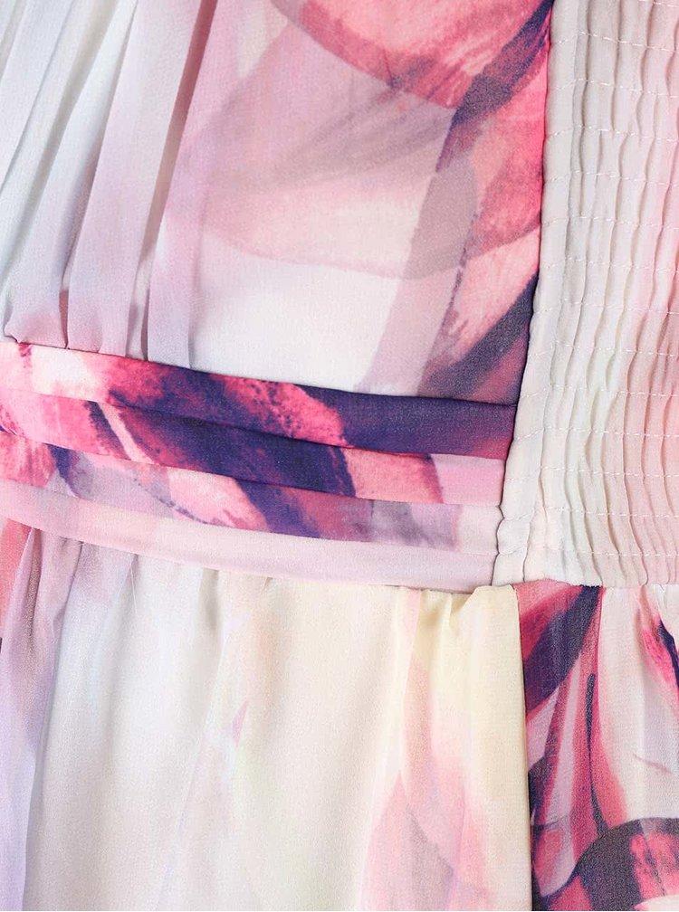 Ružovo-krémové maxišaty Dorothy Perkins Curve