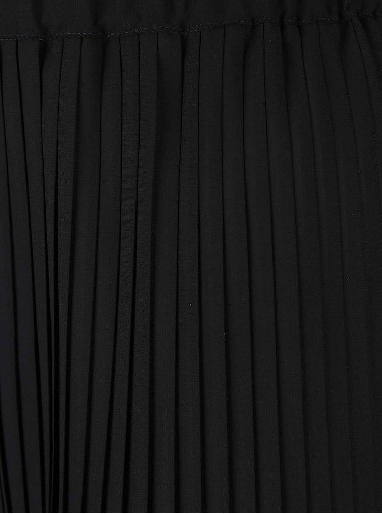 Černá plisovaná midisukně Dorothy Perkins Curve