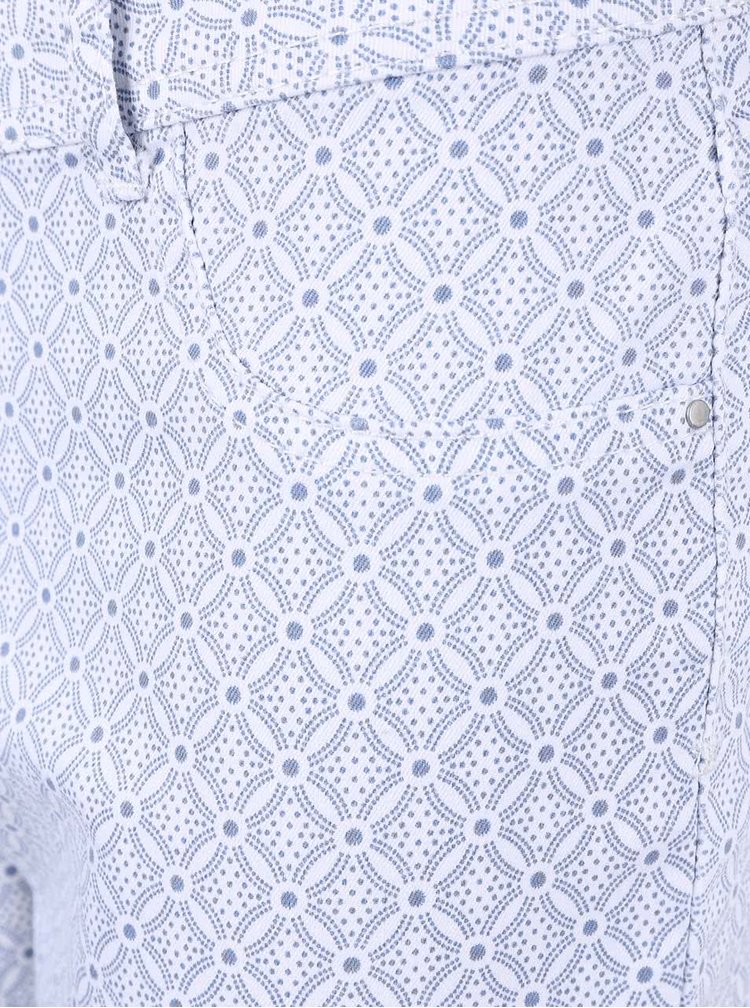 Blugi skinny Dorothy Perkins albi cu imprimeu