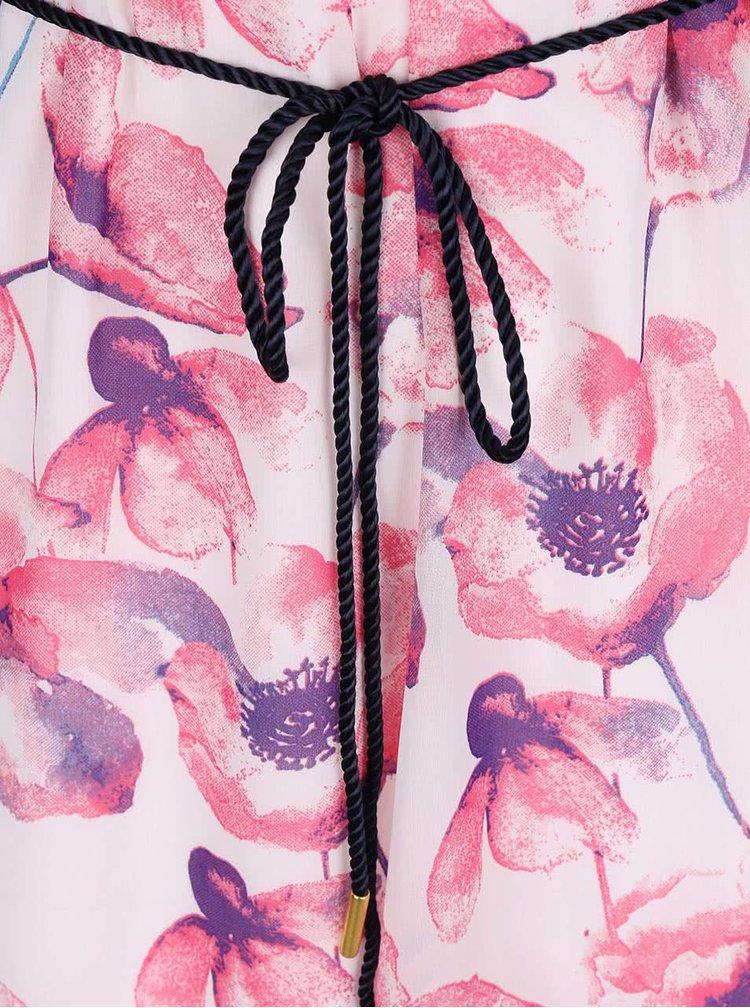 Rochie VERO MODA Flower Cherry crem cu imprimeu roz