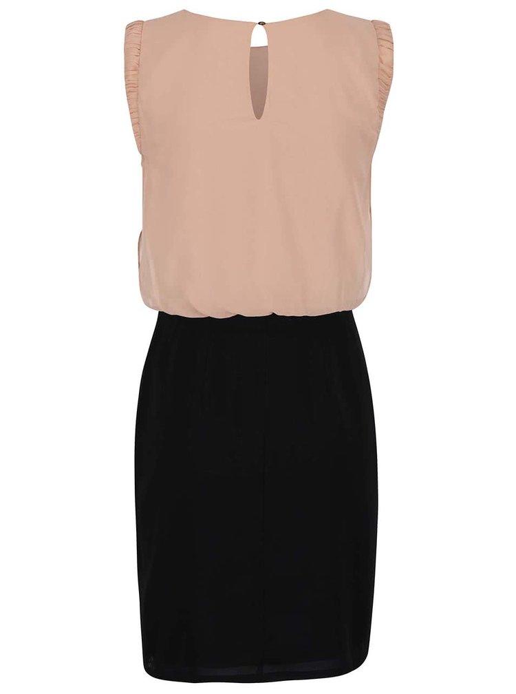 Černo-růžové šaty VERO MODA Theresa