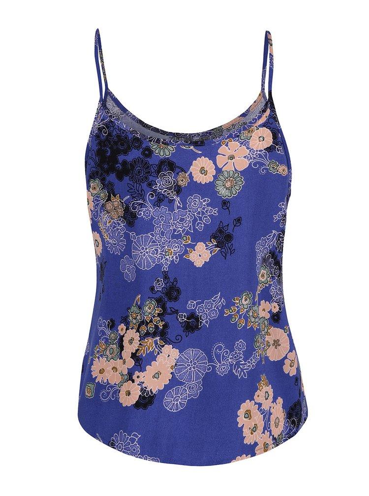 Modré kvetované tielko VERO MODA Super Easy