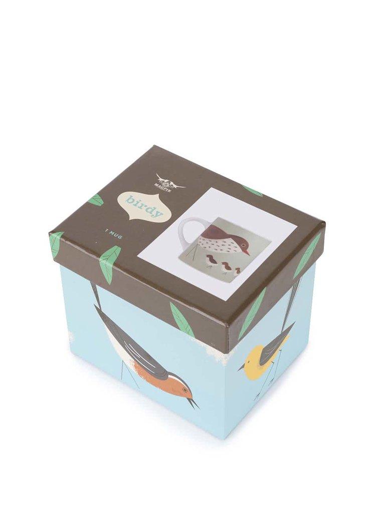 Porcelánový hrnek s dárkovou krabičkou Magpie Thrush