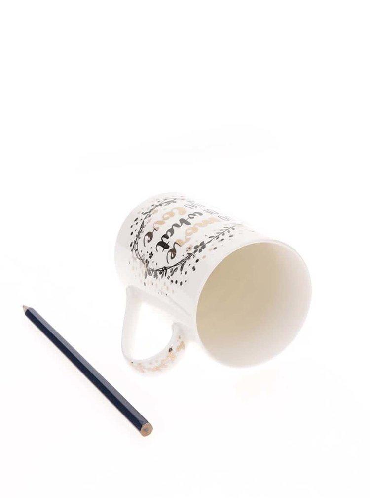 Bílý porcelánový hrnek s detaily ve zlaté barvě  Cooksmart