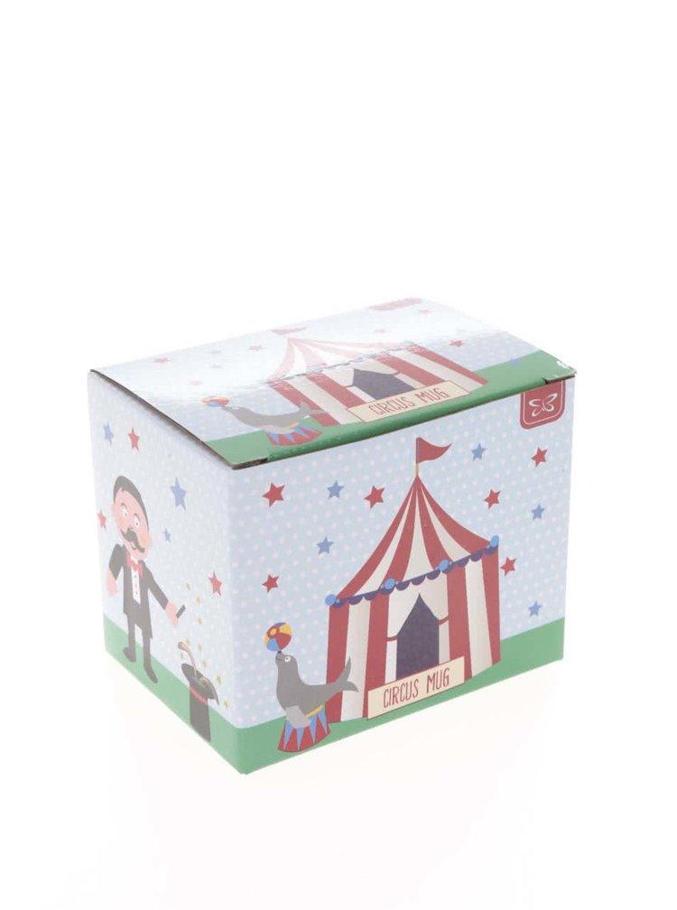 Krémový keramický hrnek s motivy cirkusu CGB
