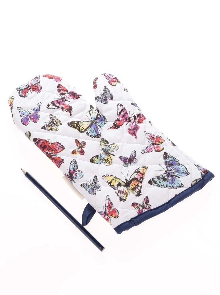 Modro-bílá chňapka s motivy motýlů Cooksmart Butterfly
