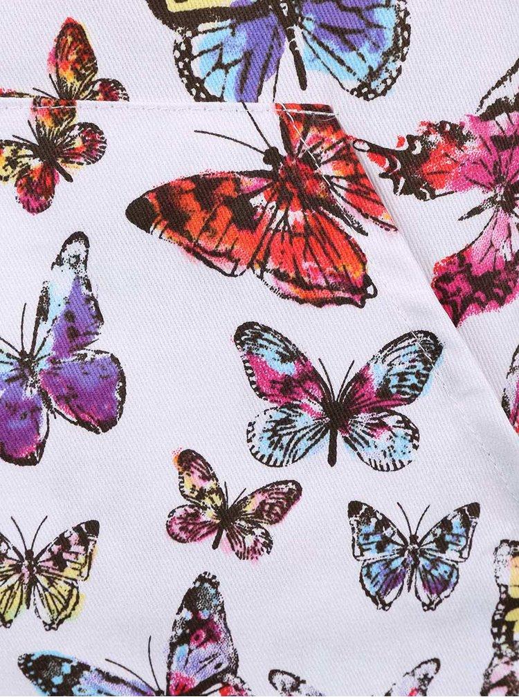 Modro-biela zástera s motívmi motýľov Cooksmart Butterfly