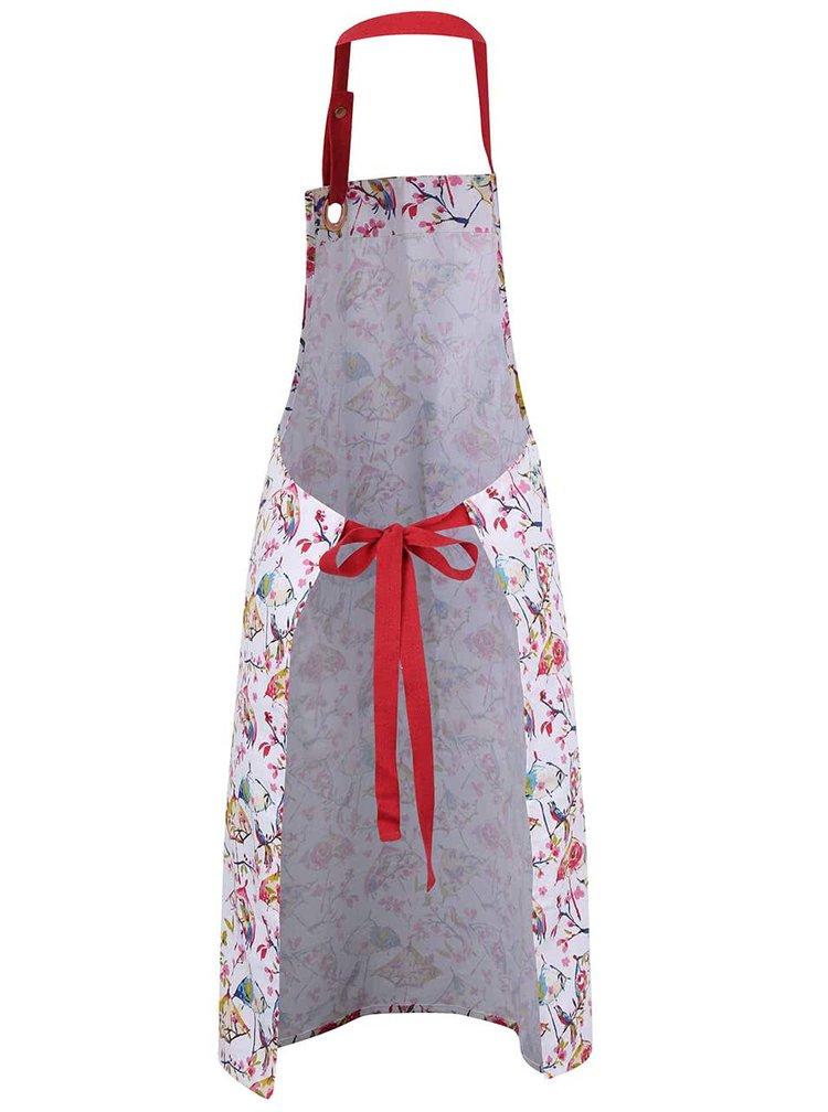 Červeno-bílá zástěra s motivy deštníků Cooksmart Paradiso