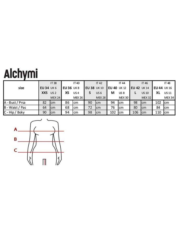 Černá maxisukně se vzorem Alchymi Apricola