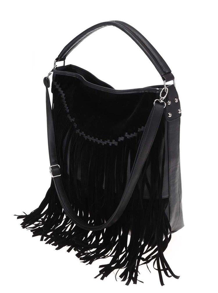 Čierna kabelka so strapcami Haily´s Franzi