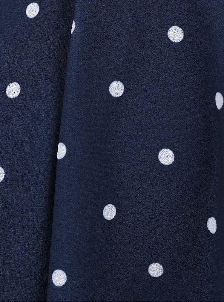 Top Haily´s Marie albastru închis cu imprimeu