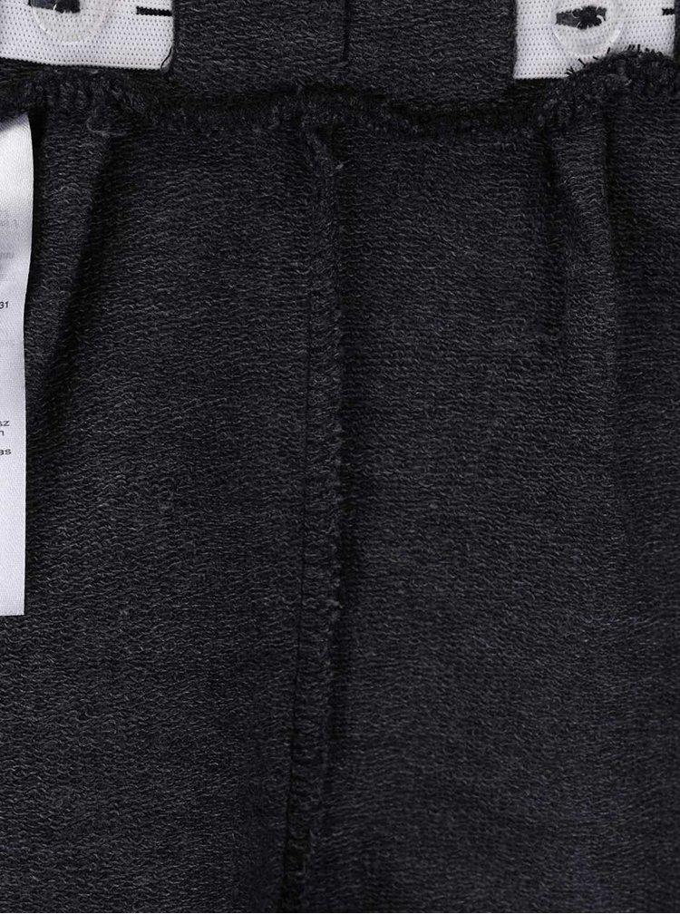 Tmavosivé dievčenské šortky s kamienkami name it Halullu
