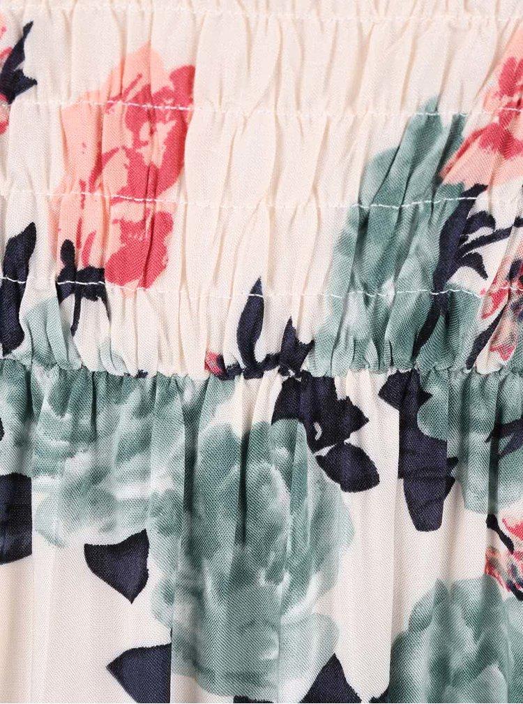 Krémové maxišaty s barevným postiskem Haily´s Dina