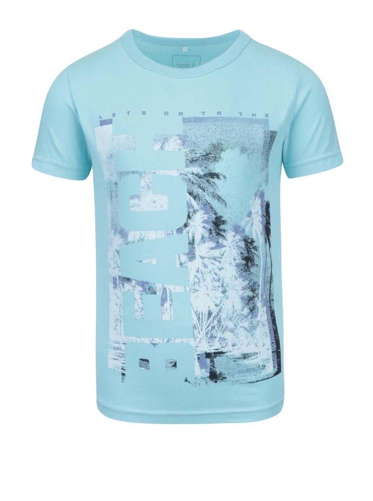 Tyrkysové klučičí tričko s potiskem name it Vux