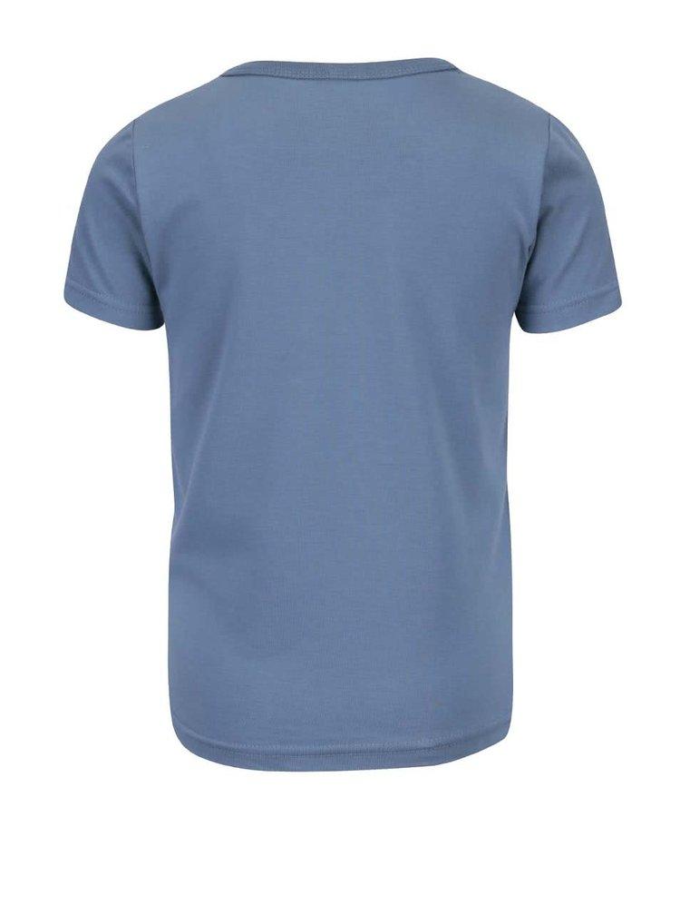 Tmavomodré chlapčenské tričko s potlačou name it Vux