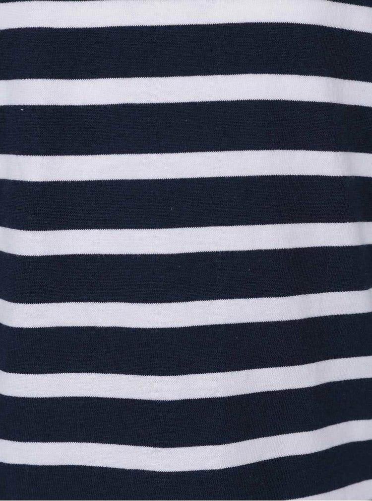 Bílo-modré klučičí dvoudílné pruhované pyžamo name it Night