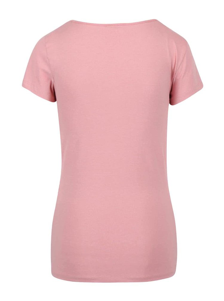 Ružové tričko s krátkym rukávom VERO MODA Maxi My