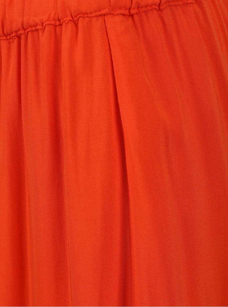 Oranžová maxisukně s rozparkem VERO MODA Super Easy