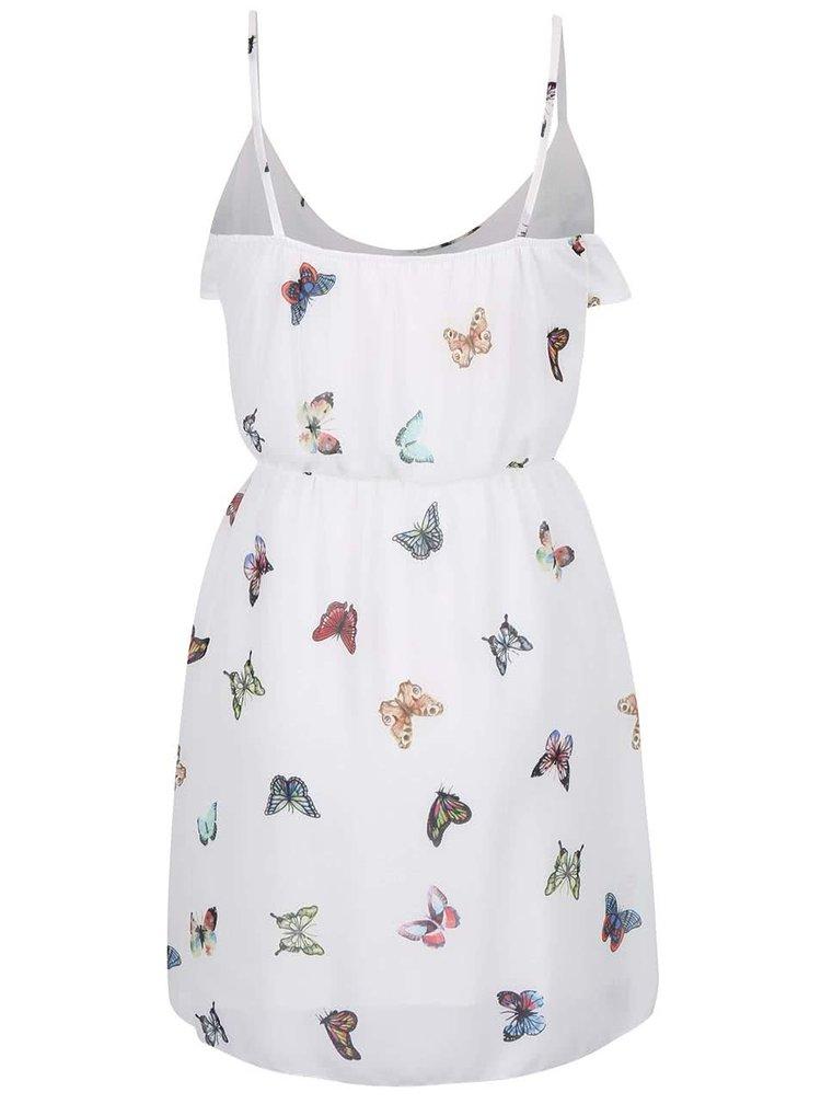 Krémové šaty s potiskem Haily´s Butterfly