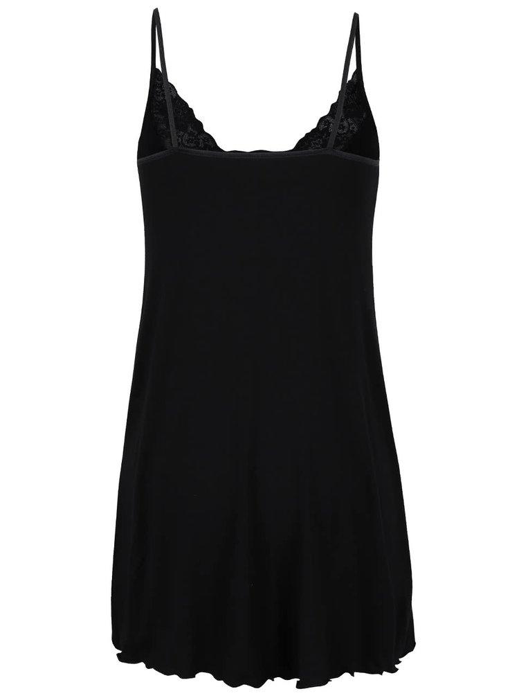 Černá krajková noční košilka Eldar Neva