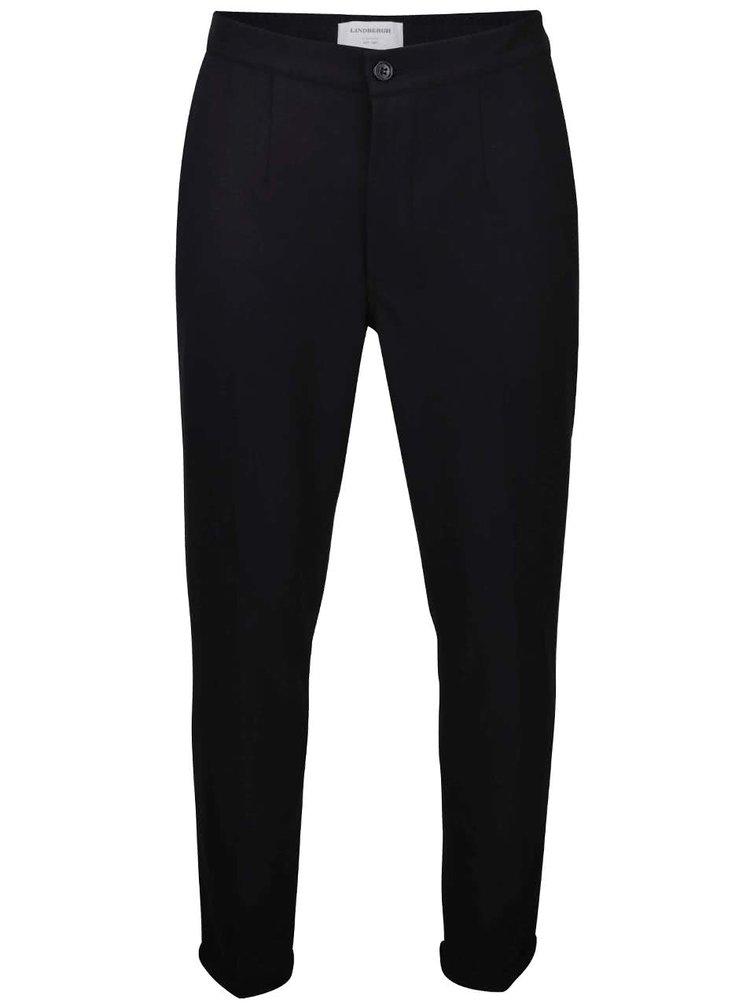 Čierne pánske spoločenské nohavice Lindbergh