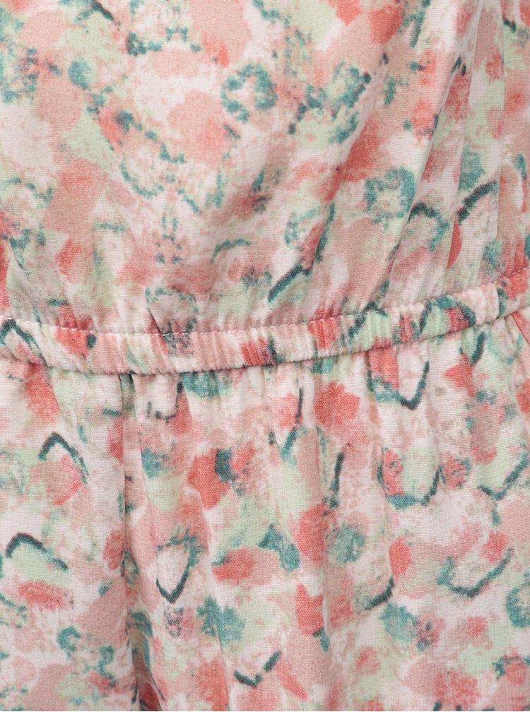 Růžový dívčí vzorovaný overal name it Tiluna
