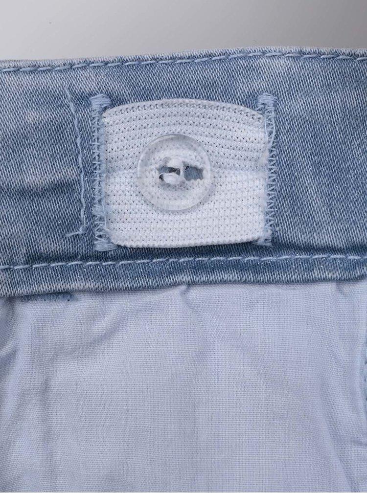 Modré rifľové dievčenské šortky name it Siricindy