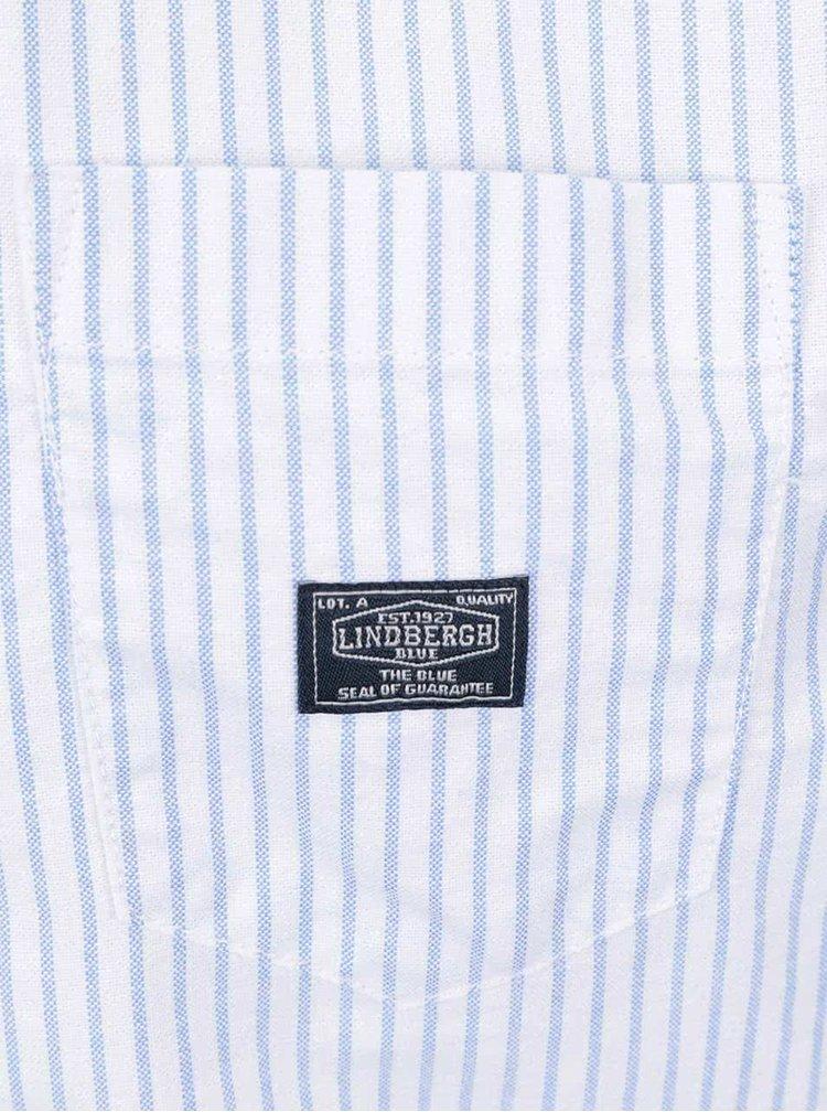 Světle modrá pruhovaná pánská košile Lindbergh