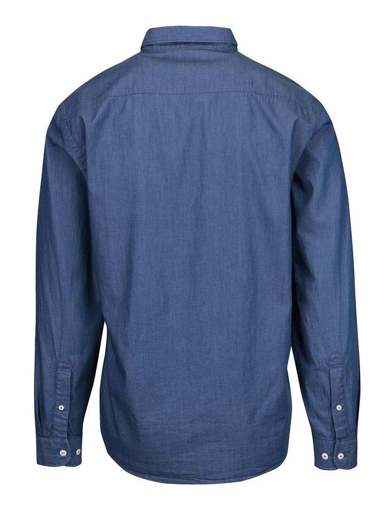 Svetlomodrá pánska košeľa s výrazným vreckom Lindbergh