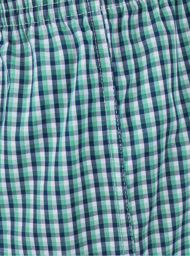 Sada dvou pánských vzorovaných trenýrek v zelené barvě s.Oliver