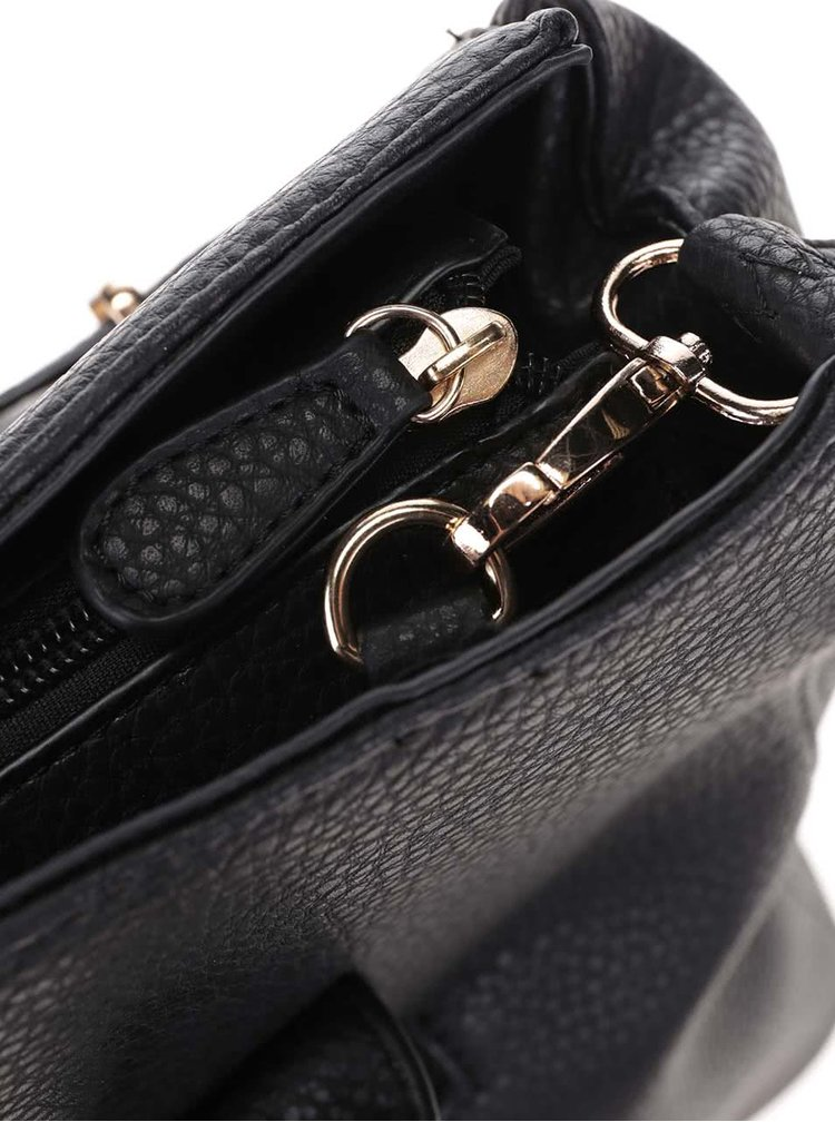 Černá kabelka do ruky s detaily ve zlaté barvě Haily´s Heike
