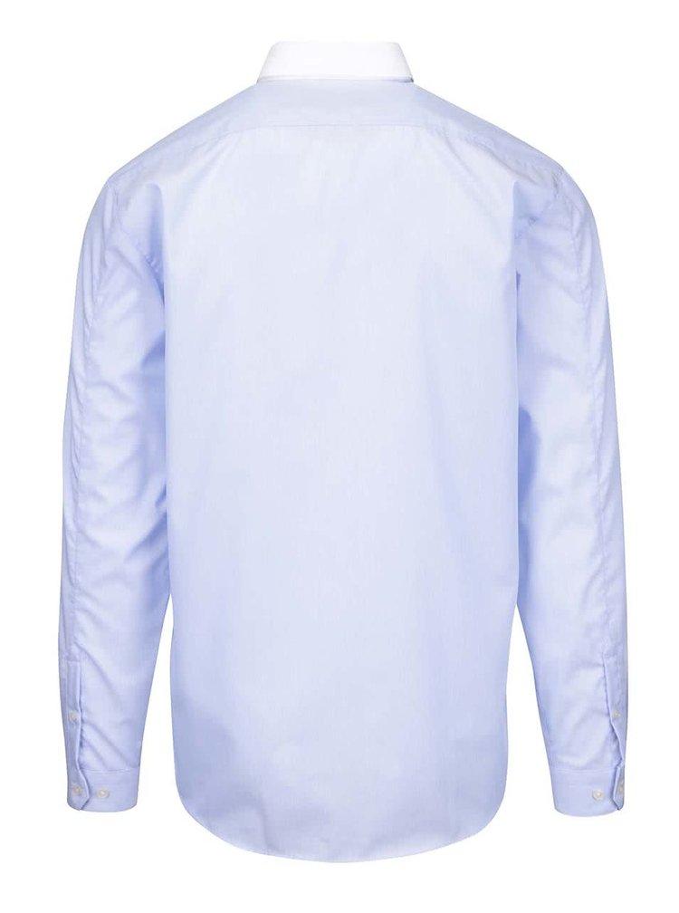Modrá košile s bílým límcem Lindbergh